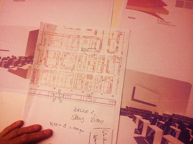 Planung des Messestandes